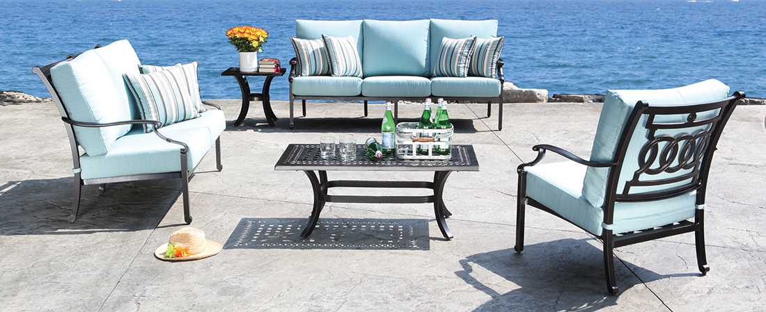 CabanaCoast Verona Cast Aluminum Outdoor Seating