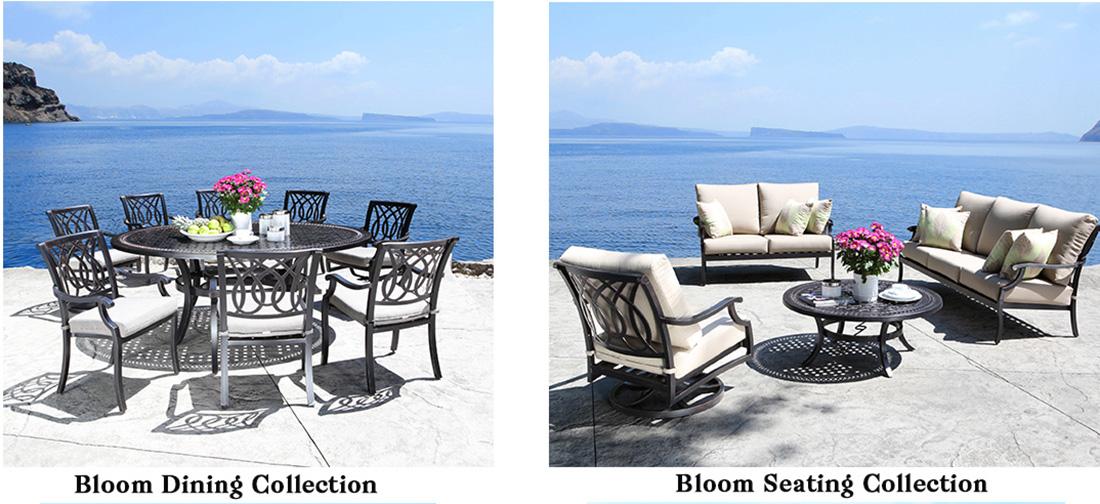 CabanaCoast Bloom Cast Aluminum Patio Furniture