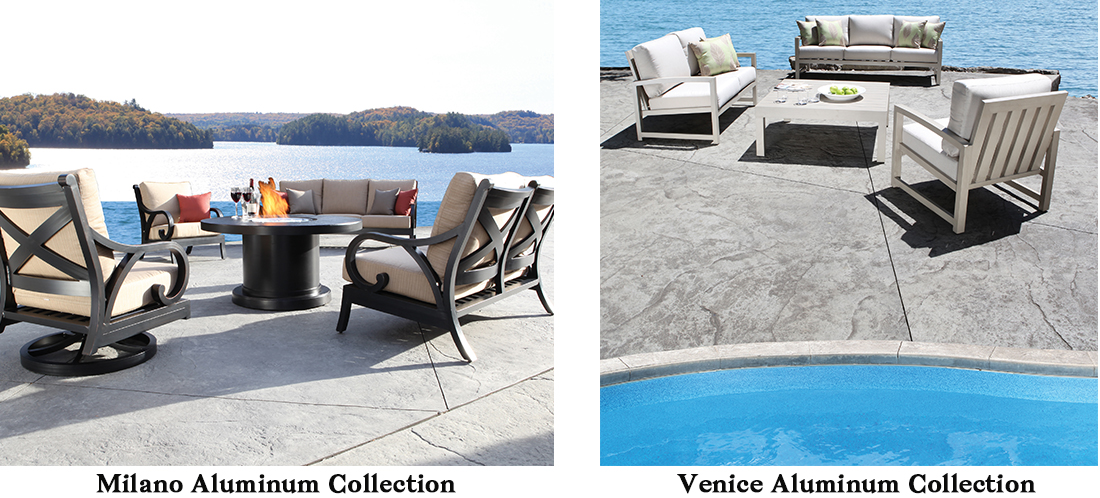 CabanaCoast Milano Venice Aluminum Patio Furniture
