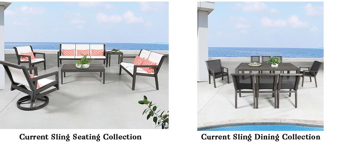 CabanaCoast Current Sling Aluminum Patio Furniture