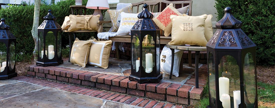 Peak Season Throw Pillows, Outdoor Lanterns and Outdoor Lamps