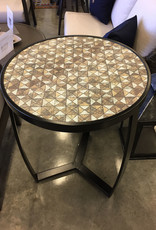 Outdoor by Design 24'' Rd. Beverage Table in Night Sky with Mosaic Top