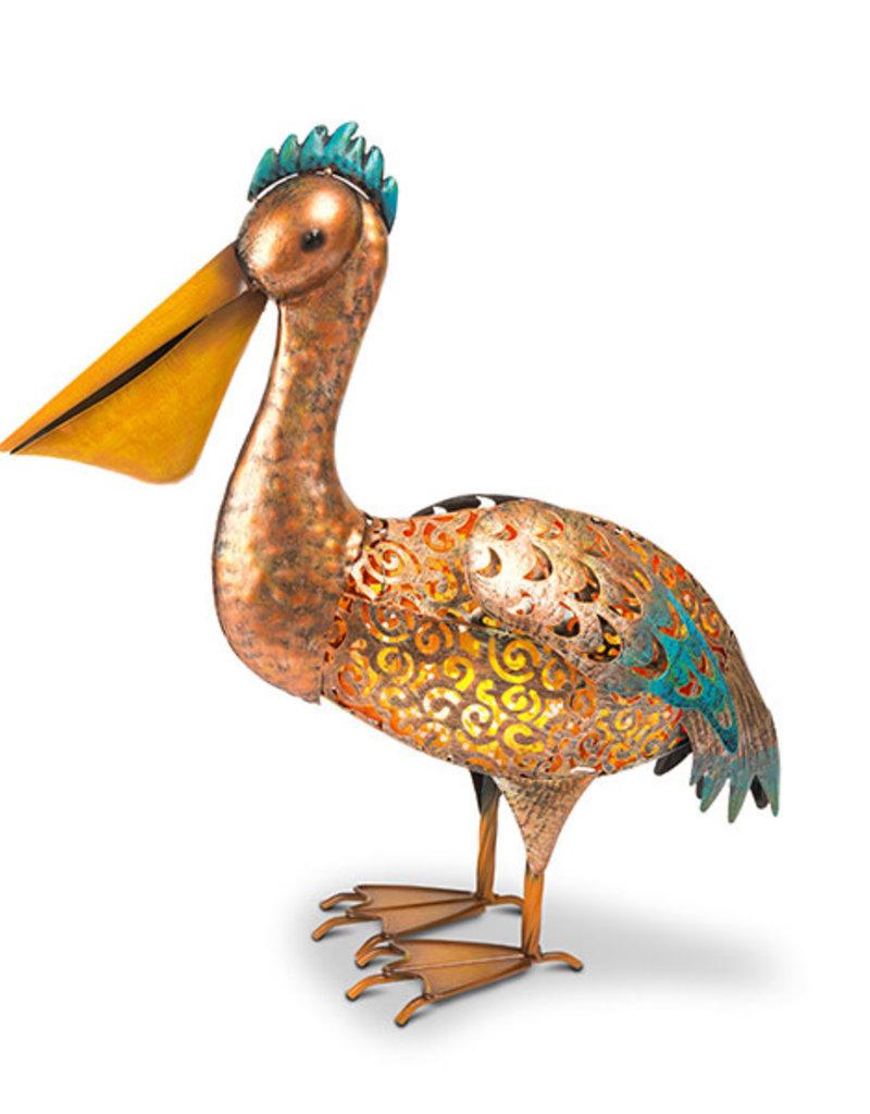 20'' H Solar Metal Pelican