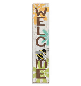 31.5'' Wood Welcome with Bee Wall Decor