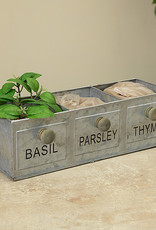 12.5''L ''Basil-Parsley-Thyme'' Herb Garden Kit