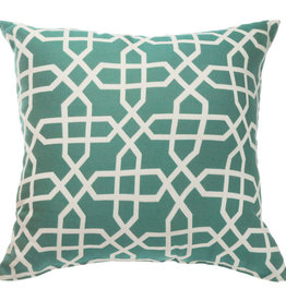 Pawleys Island Pawleys Island 16'' Square Outdoor Throw Pillow - Sunbrella Bevel Lagoon