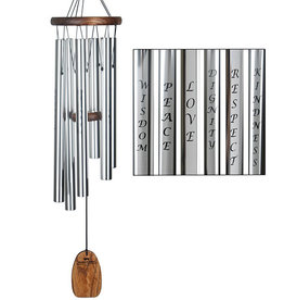 Woodstock Woodstock Affirmation Wind Chime - Virtue