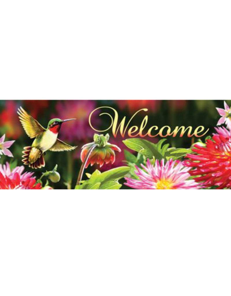 Hummingbird Dahilas Signature Sign