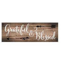 Grateful and Blessed Signature Sign
