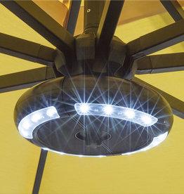 Treasure Garden Treasure Garden Luna Umbrella Light in Black with Bluetooth Speaker
