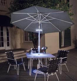 Treasure Garden Treasure Garden Luna Umbrella Light in Bronze with Bluetooth Speaker