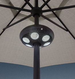 Treasure Garden Treasure Garden Vega Umbrella Light in Black