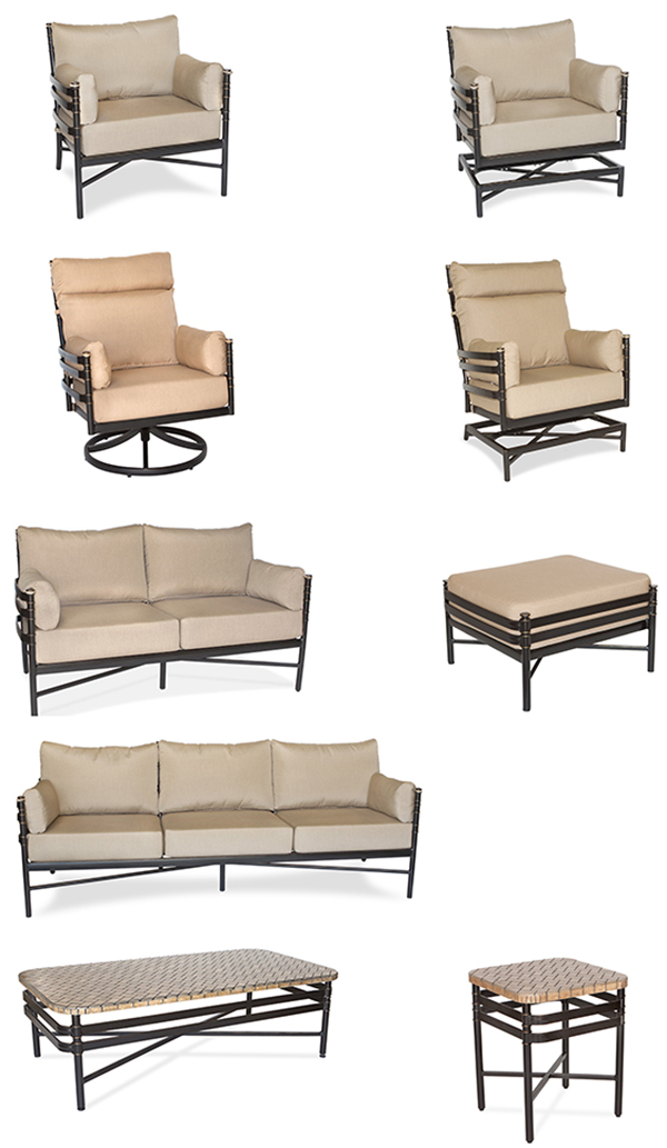Inspired Visions Lancaster Outdoor Seating, Sofa Chairs, Loveseat and Tables