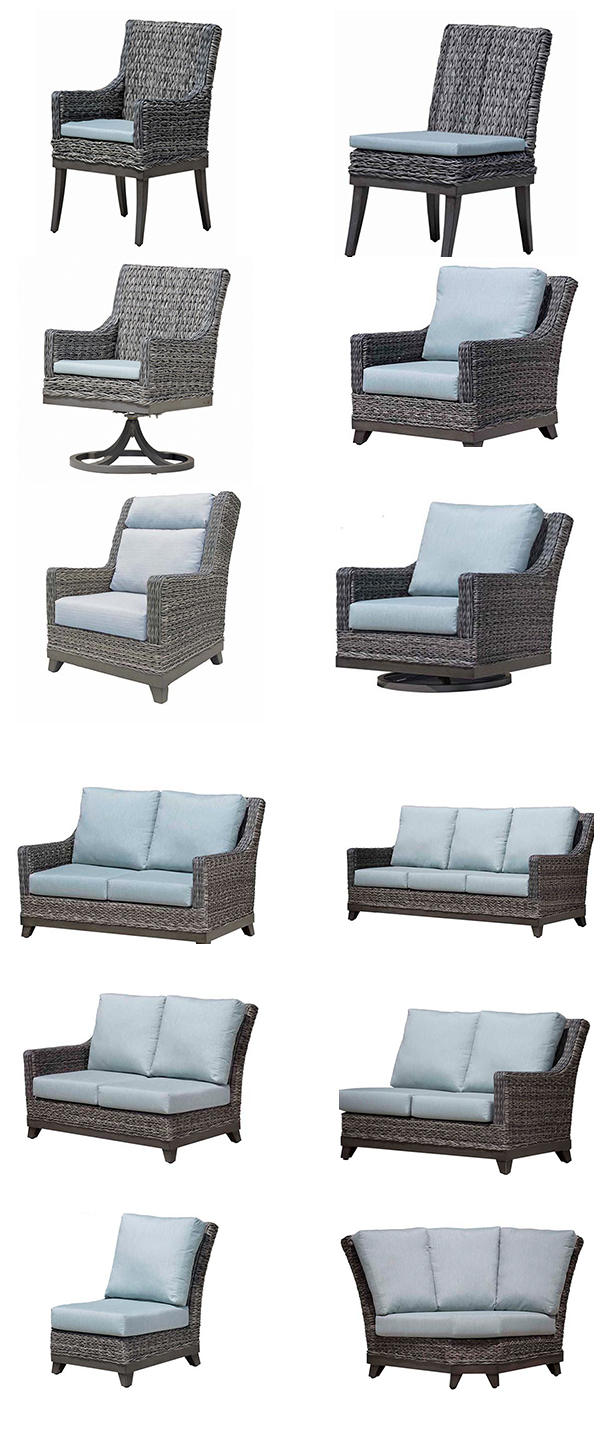Ratana Boston Wicker Outdoor Dining Seating and Sectional Collection