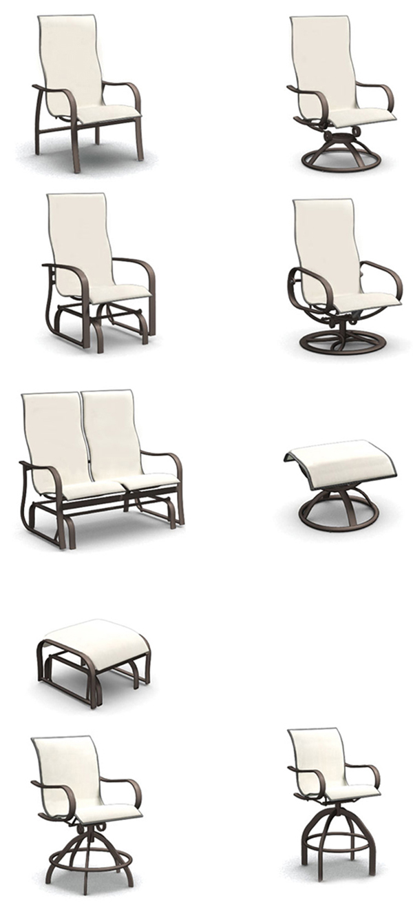 Homecrest Holly Hill Sling Patio Dining and Outdoor Seating Collection