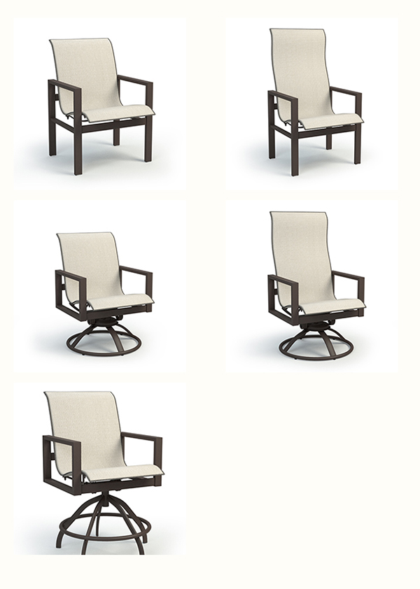 Homecrest Outdoor Living Sutton Sling Dining and Bar Patio Furniture
