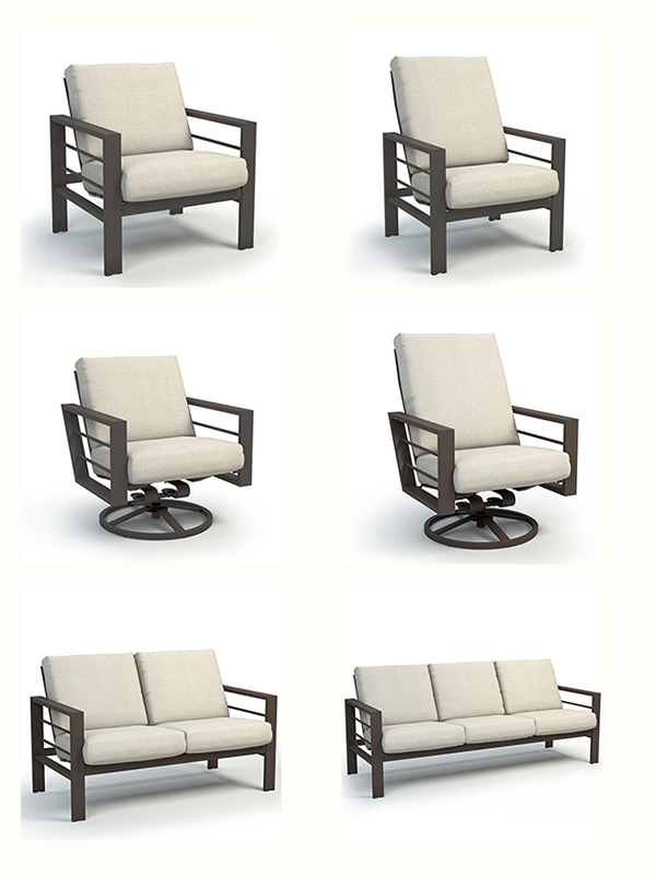 Homecrest Outdoor Living Sutton Cushion Outdoor Seating Collection