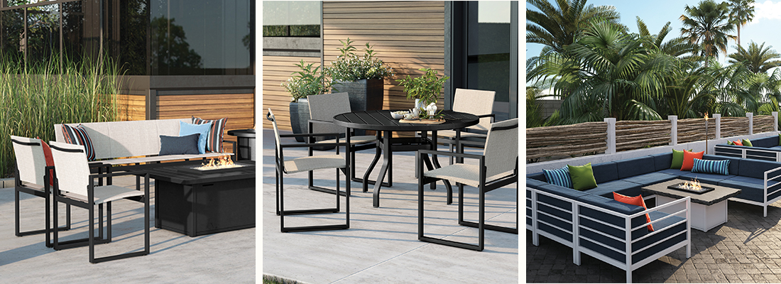 Homecrest Allure Mesh Sling and Cushion Patio Furniture Collections