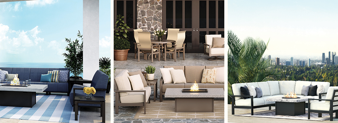 Homecrest Elements Outdoor Sling and Sectional Seating