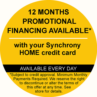 12 Month Promotional Financing with Synchrony Home