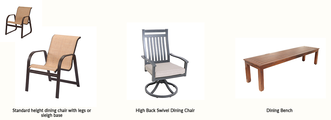 Patio Dining Chair Types