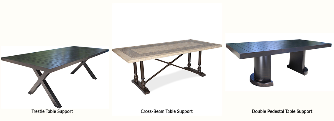 Rectangle Patio Table Base Options