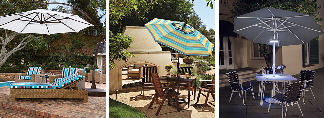 Treasure Garden Patio Market Umbrella and Cantilever Offset Umbrella