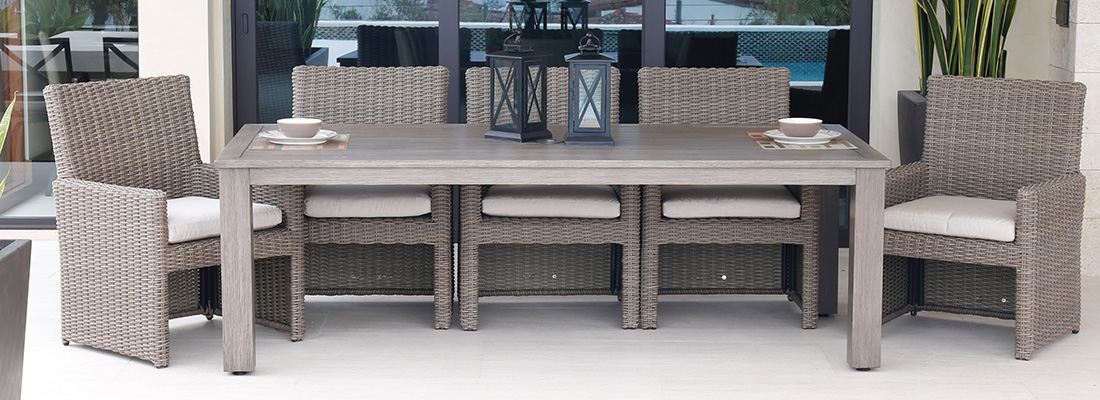 Sunset West Resin Wicker Coronado Patio Dining Furniture