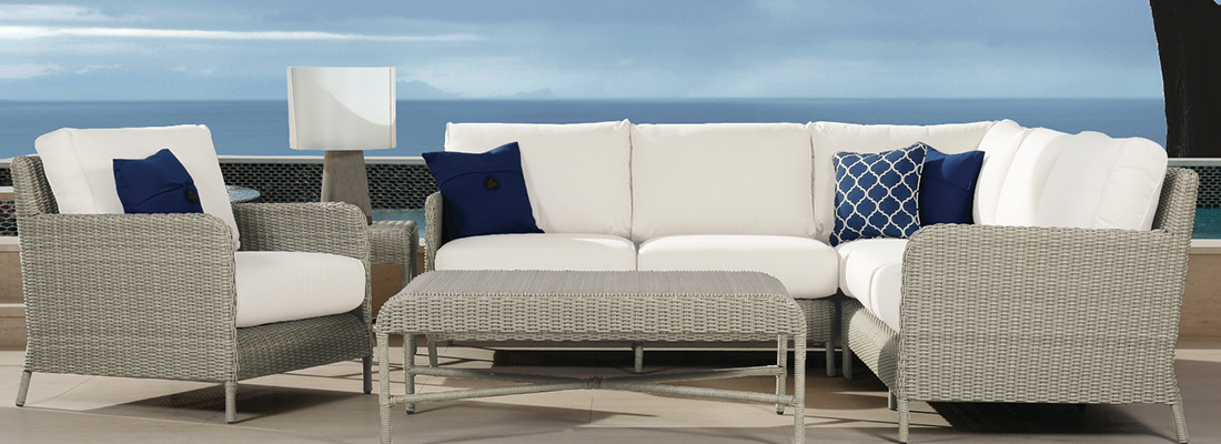 Sunset West Manhattan Resin Wicker Outdoor Sectional
