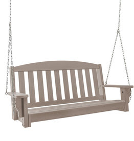 Pawleys Island Pawleys Island Durawood Bench Porch Swing Weatherwood