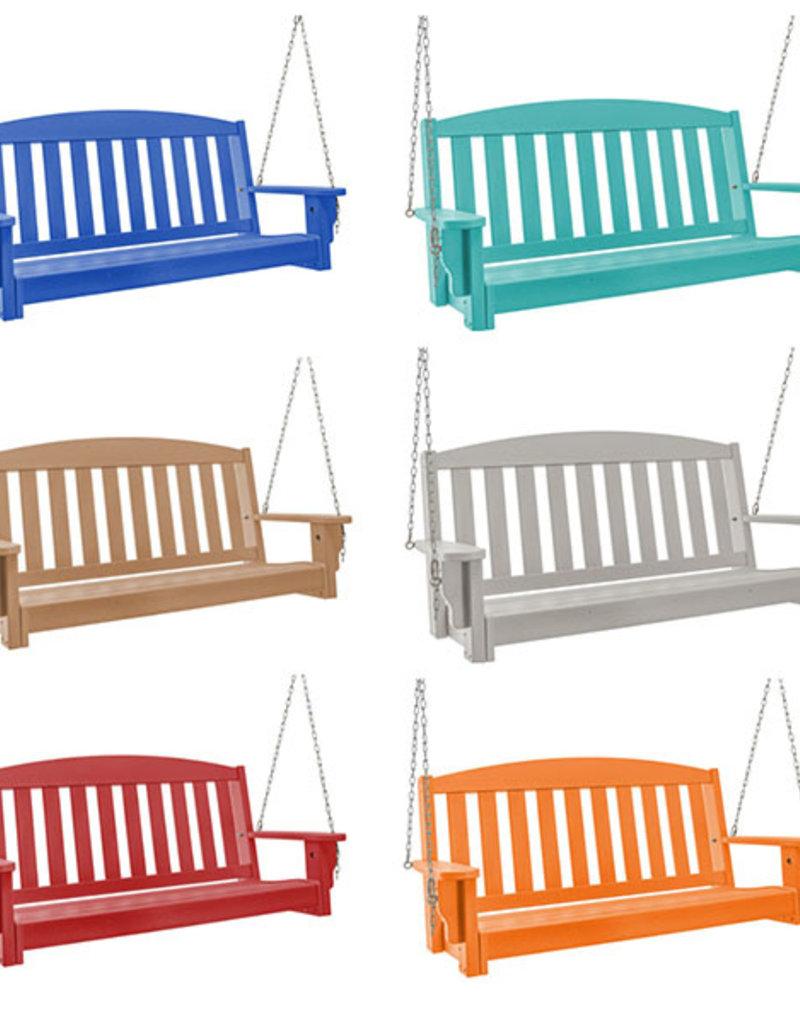 Pawleys Island Pawleys Island Durawood Bench Porch Swing White