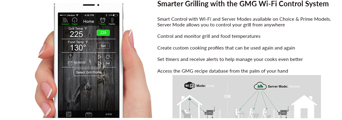 Green Mountain Grills Pellet Grill Wi-Fi Control