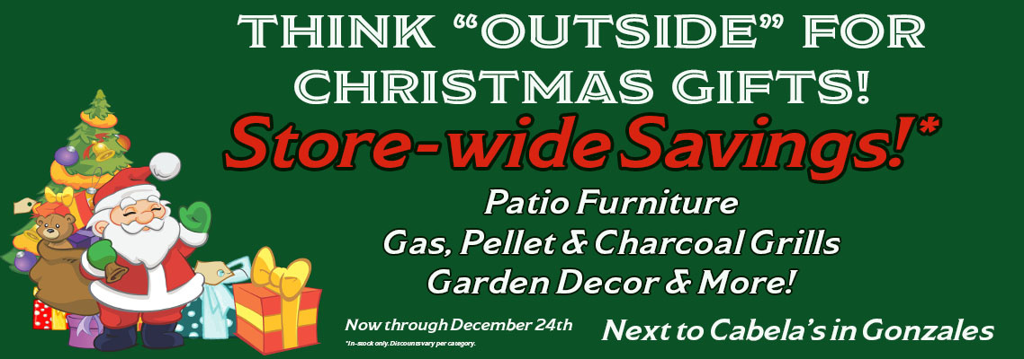 Christmas Sale Patio Furniture, Grills, Garden Decor and More