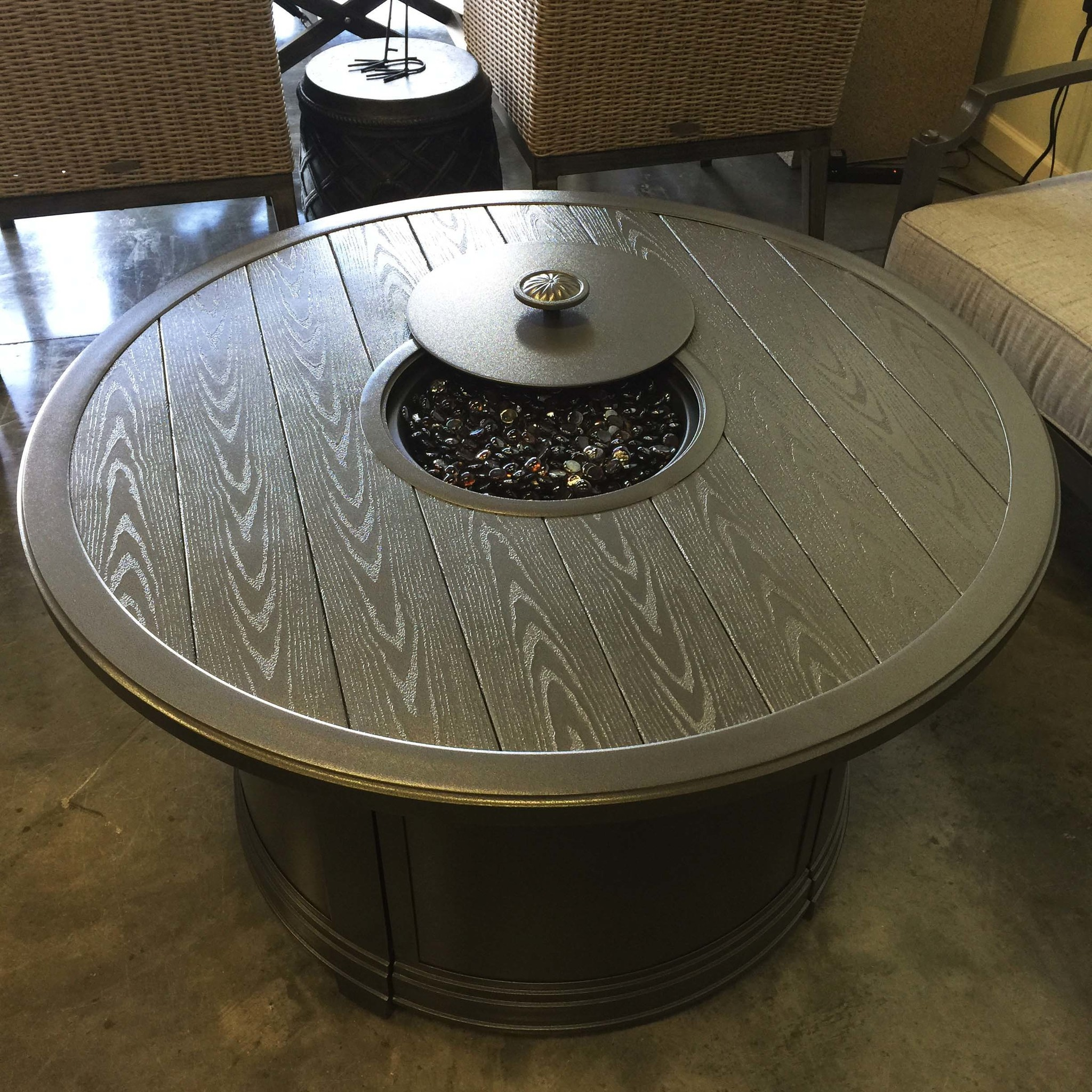 Round Propane Fire Table