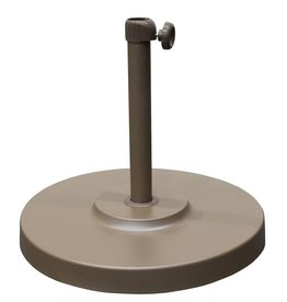 California Umbrella California Umbrella 50 LBS Umbrella Base With Steel Cover with Concrete Champagne