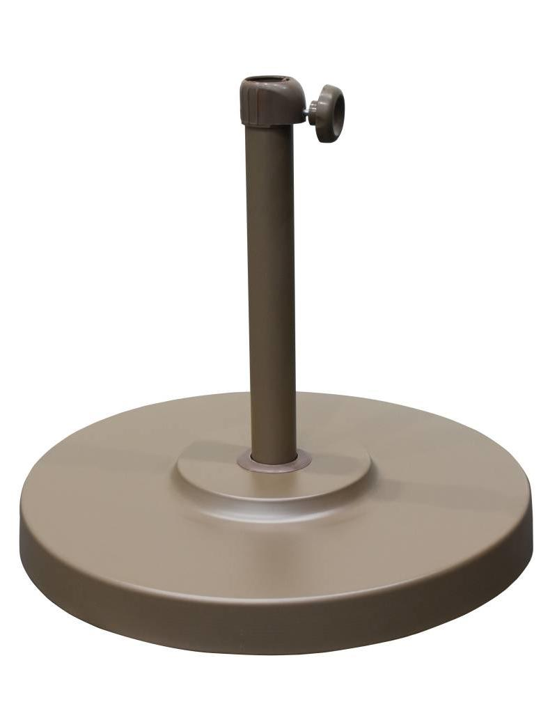 California Umbrella California Umbrella 50LBS Umbrella Base With Steel Cover with Concrete Champagne