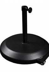California Umbrella California Umbrella 75LBS Umbrella Base With Steel Cover with Concrete Black