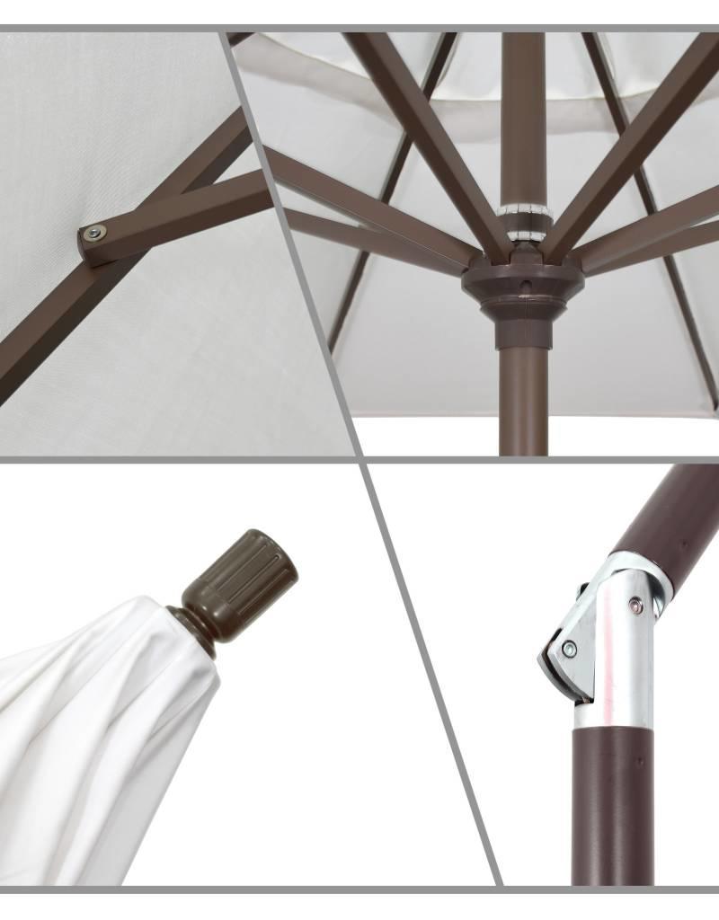 California Umbrella California Umbrella 9' Pacific Trail Series Patio Umbrella With Bronze Aluminum Pole Aluminum Ribs Push Button Tilt Crank Lift With Pacifica Spa Fabric