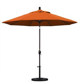 California Umbrella California Umbrella 9' Pacific Trail Series Patio Umbrella With Bronze Aluminum Pole Aluminum Ribs Push Button Tilt Crank Lift With Pacifica Tuscan Fabric