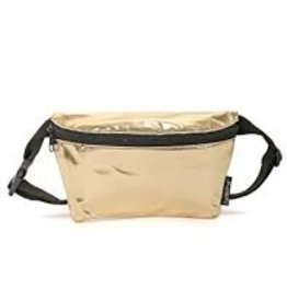 Ultra Slim Fanny Pack: Metalics silver or gold