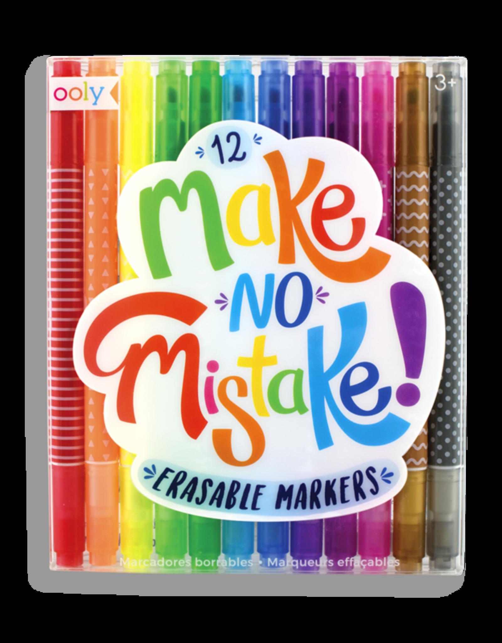 Make No Mistake Erasable Markers - Set of 12