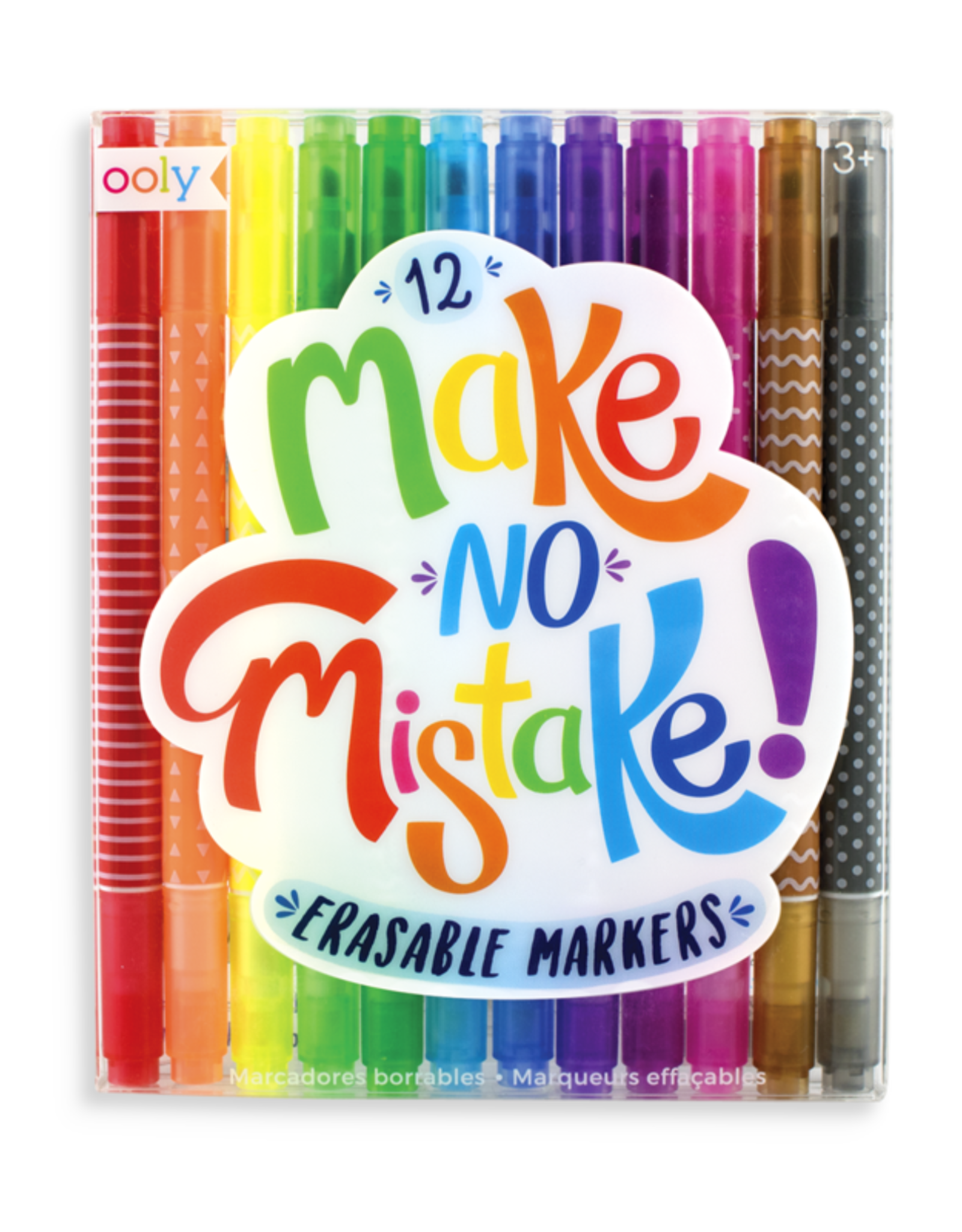 Ooly DBA International Arrivals Make No Mistake Erasable Markers - Set of 12