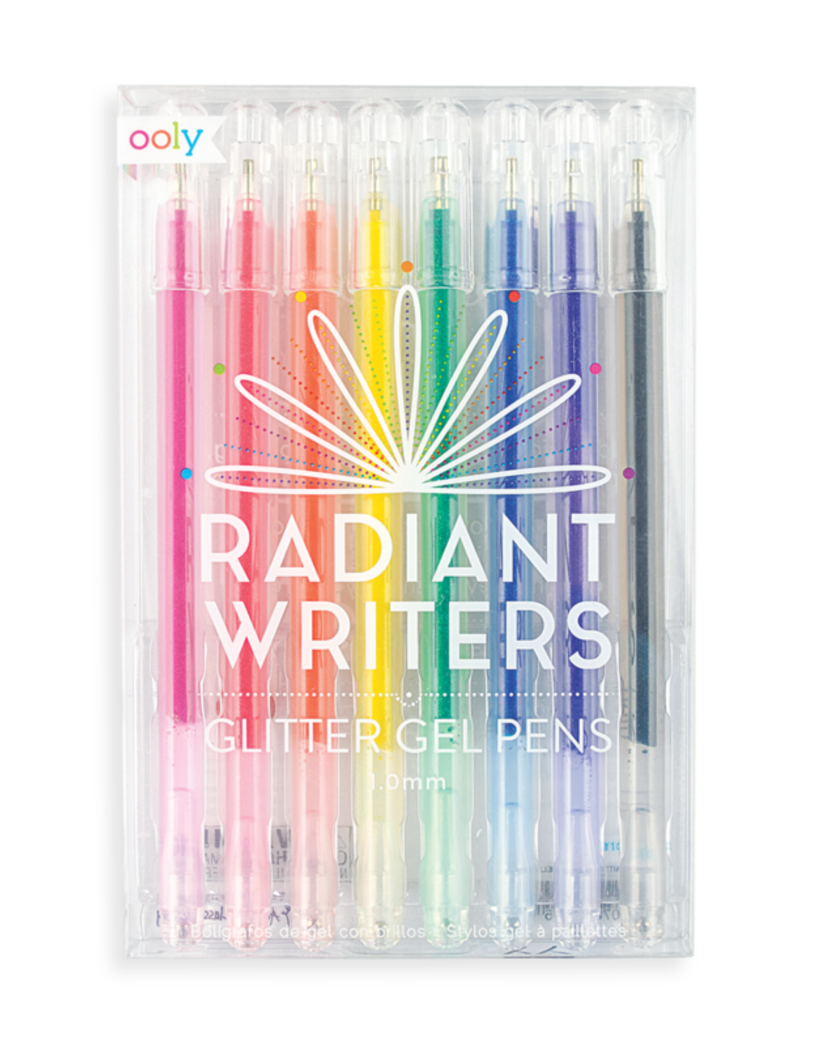 Radiant Writers Glitter Gel Pens - Set of 8