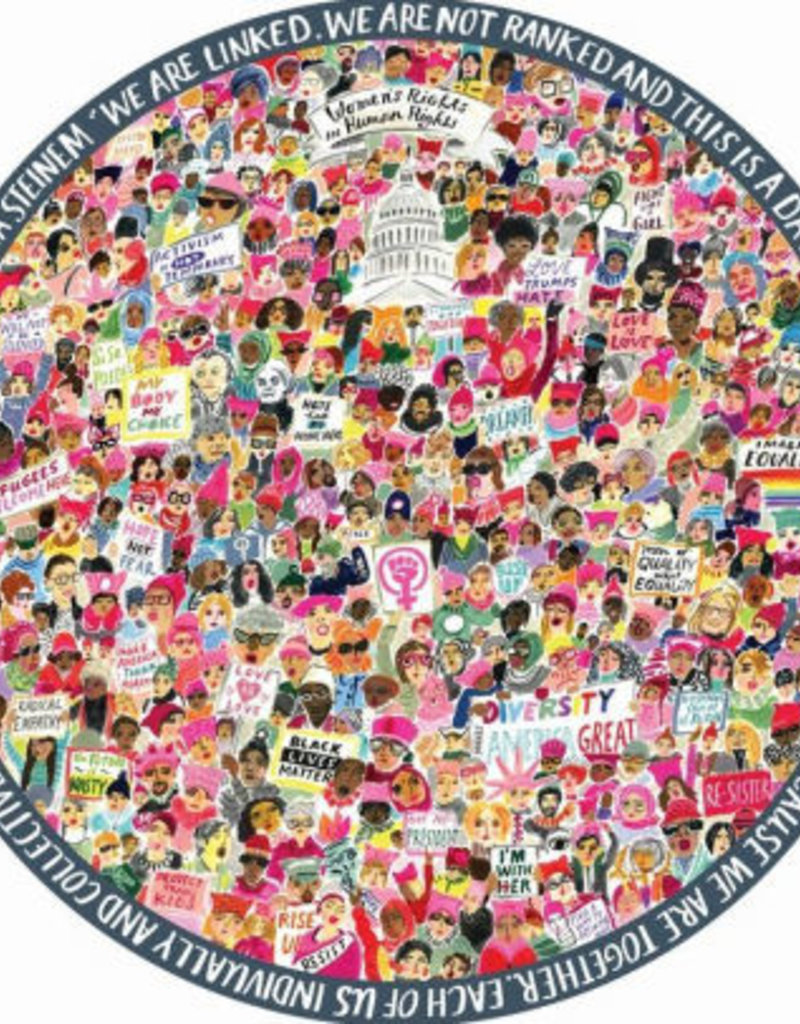 Puzzle 500 pieces round: Women's March