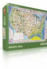 Puzzle - Wildlife Map 2000 pieces