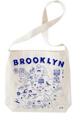 Brooklyn Map Hobo Tote
