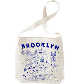 Brooklyn Map Hobo Tote