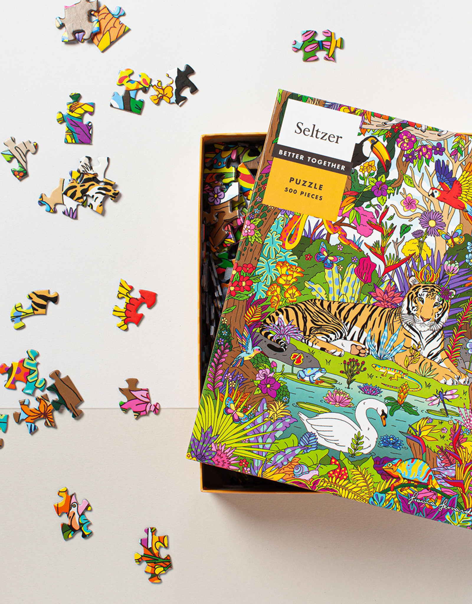 Puzzle - 500 piece - Jungle Tiger