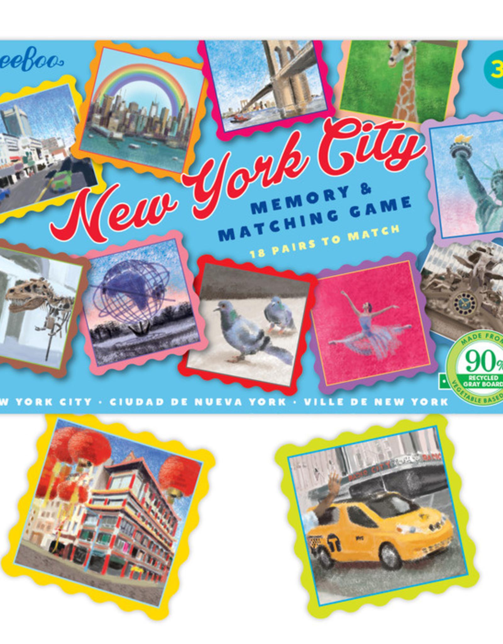 eeBoo NYC Little Matching Game: Memory