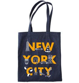 Maptote NYC font Denim Tote